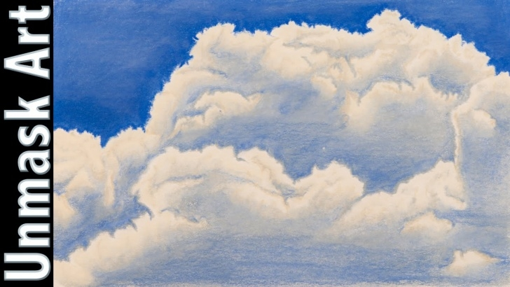 Drawing Clouds With Colored Pencils