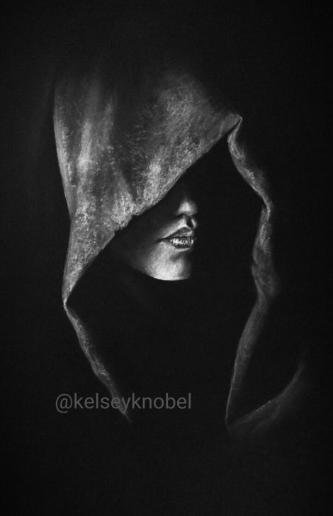 The Most Famous Drawing On Black Paper With White Charcoal Easy White Charcoal On Black Paper. Drawing By @kelseyknobel Unknown Pics