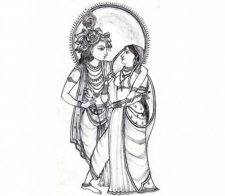 The Most Famous Drawings Of God Free Radha Krishna Pencil Drawings Clipart God Radha Krishna » Clipart Photo