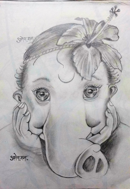 The Most Famous Ganpati Bappa Pencil Sketch Courses Ganpati Sketch Gallery (61+ Images) Photos
