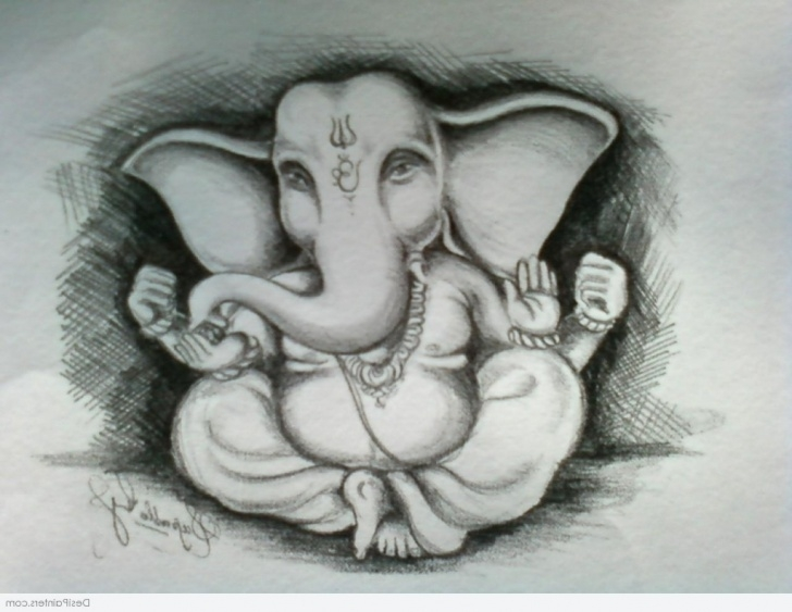 The Most Famous Ganpati Bappa Pencil Sketch Techniques Simple Sketch Of Lord Ganesha At Paintingvalley | Explore Pic