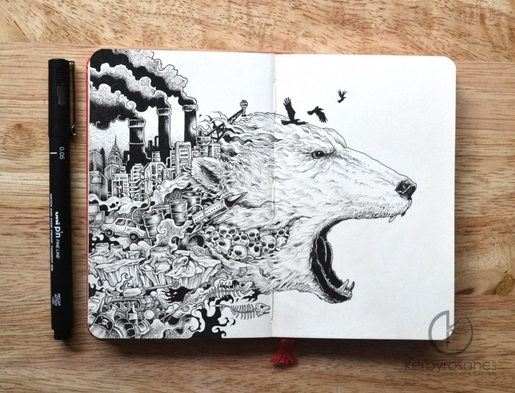 The Most Famous Global Warming Pencil Drawing Lessons How To Freecycle And Repurpose Tutorials | °Art° | Doodle Art, Art Picture