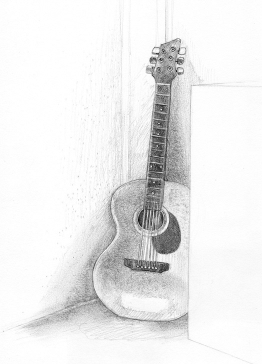 The Most Famous Guitar Pencil Art Tutorial Pencil Drawings | Fossforous: Tuesday Things: Guitar | Cosas Que Pictures