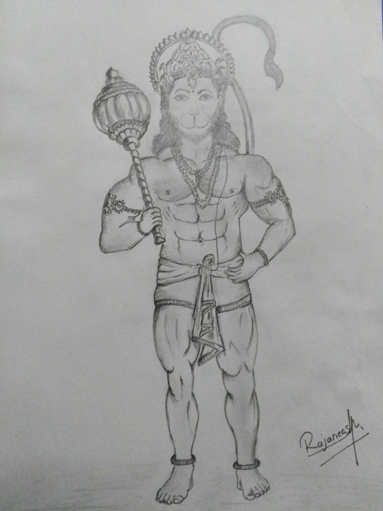 The Most Famous Hanuman Pencil Art Techniques Pencil Sketch Of Lord Hanuman | Pencil Sketch | Sketches, Pencil Pics