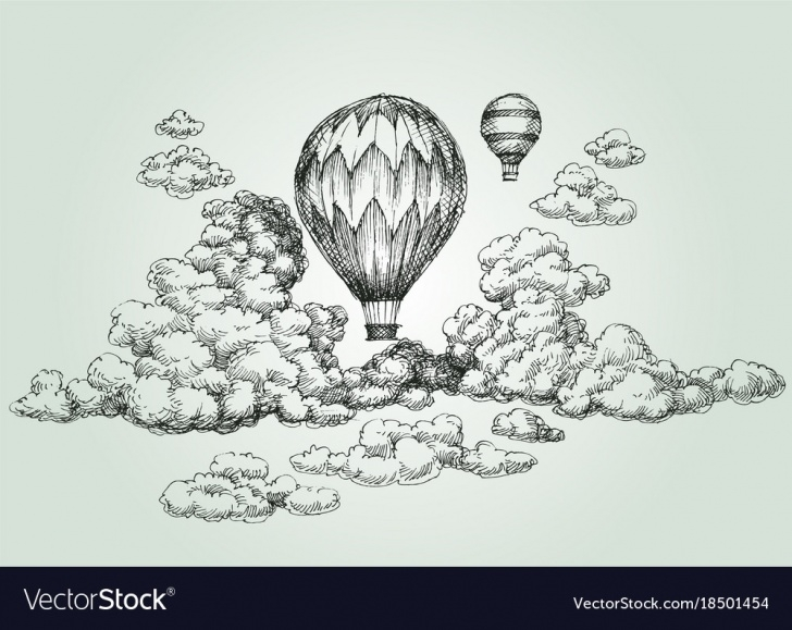 The Most Famous Hot Air Balloon Pencil Drawing Free Hot Air Balloon Drawing Pictures