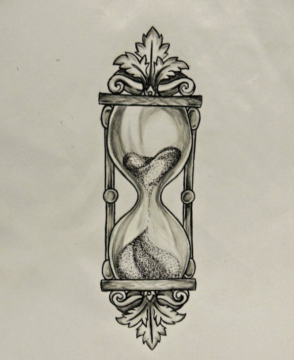 The Most Famous Hourglass Pencil Drawing Tutorials Prismacolor Scholar Pencil Drawing. Done On Request As A Tattoo Picture