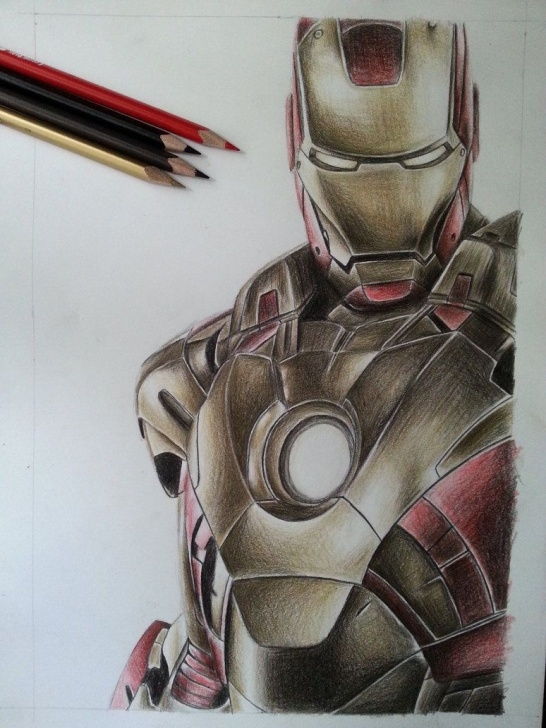 The Most Famous Iron Man Drawing In Pencil Free Iron Man Color Pencil By Deadart1 | Αятѕу In 2019 | Marvel Drawings Picture