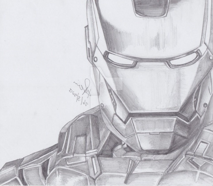 The Most Famous Iron Man Pencil Art Tutorials Iron Paintings Search Result At Paintingvalley Picture