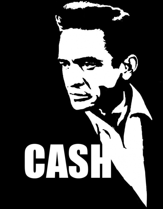 The Most Famous Johnny Cash Stencil Art Lessons Black Stencil - Google Search | Cover Art Inspirations | Johnny Cash Pic