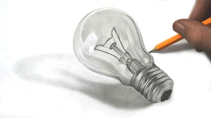 Light Bulb Pencil Drawing