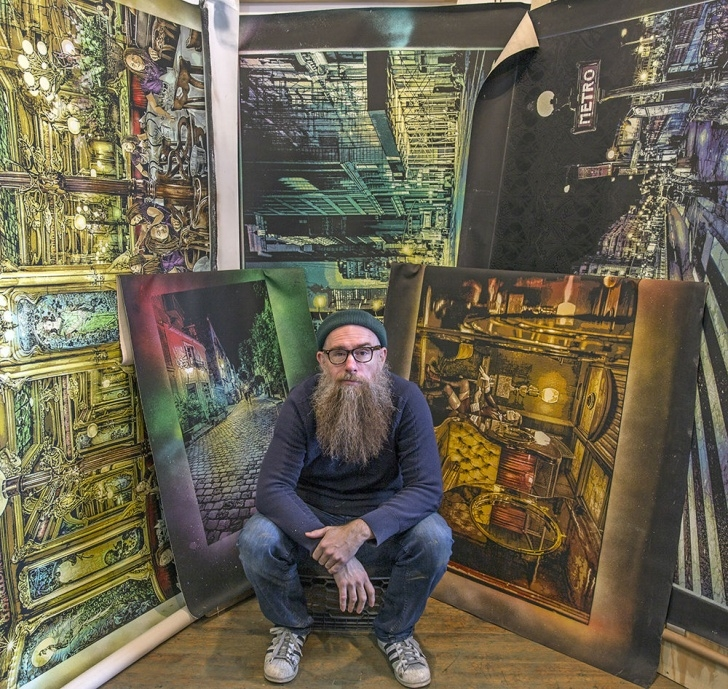 "The Most Famous Logan Hicks Art Courses Juxtapoz Magazine - Logan Hicks' New Show ""light Seekers And Night Pics"