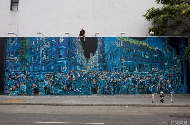 The Most Famous Logan Hicks Artist Techniques Logan Hicks Paints Bowery Wall In Nyc | Pics