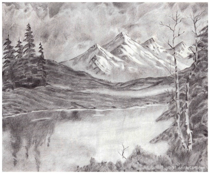 The Most Famous Mountain Scenery Sketch Step by Step Mountain Pencil Sketch And Mountain Scenery Sketches Scenery Pics Photos