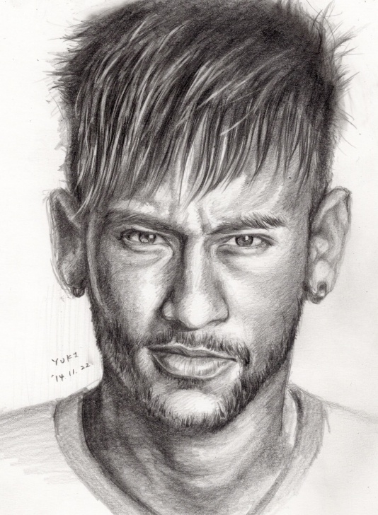 The Most Famous Neymar Pencil Drawing Tutorials Neymar Sketch At Paintingvalley | Explore Collection Of Neymar Pictures