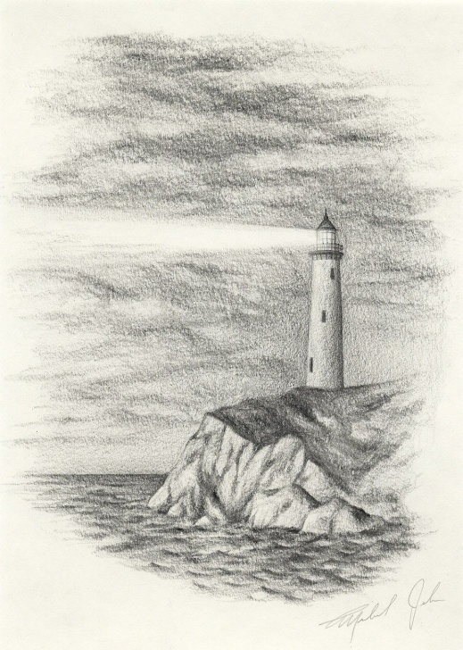 Ocean Pencil Drawing