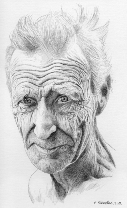 The Most Famous Old Man Drawing Pencil Easy Old Man By Deviantferrick On Deviantart | Drawing In 2019 | Pencil Photos