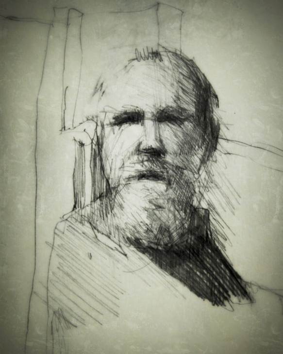 The Most Famous Old Man Pencil Sketch Lessons Old Man With Beard. Original Pencil Sketch Digitally Enhanced Picture