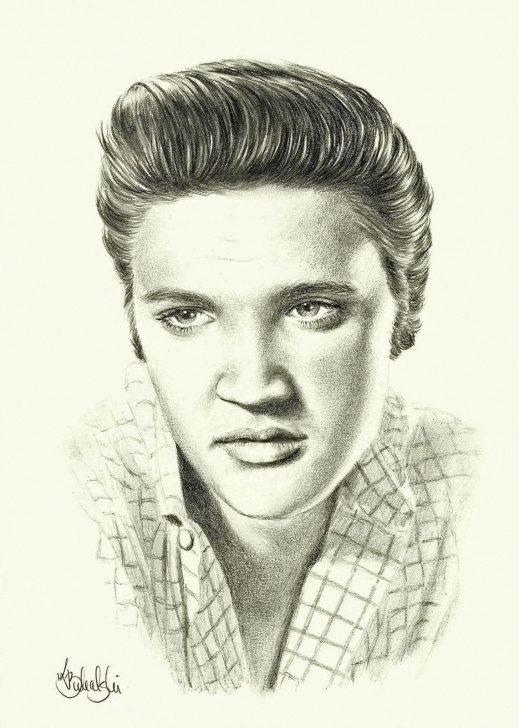Pencil Drawing Of Elvis Presley