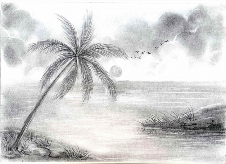 The Most Famous Pencil Drawing Of Nature Beauty Step by Step Drawing Of Nature Beauty At Paintingvalley | Explore Collection Pictures