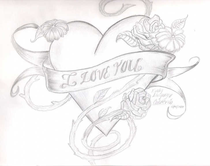 The Most Famous Pencil Drawings Of Love Hearts Lessons Free I Love You Drawings In Pencil With Heart, Download Free Clip Pics