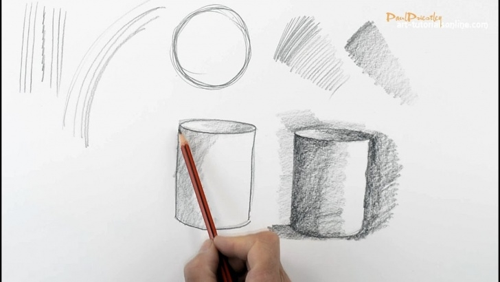 The Most Famous Pencil Shading For Beginners Tutorial Start Drawing: Part 1 - Outlines, Edges, Shading Photo