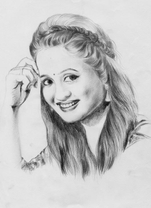 The Most Famous Pencil Shading Portrait Tutorials Elina Samantray Pencil Portrait(1) By Arjun | Pencil Shading Pics