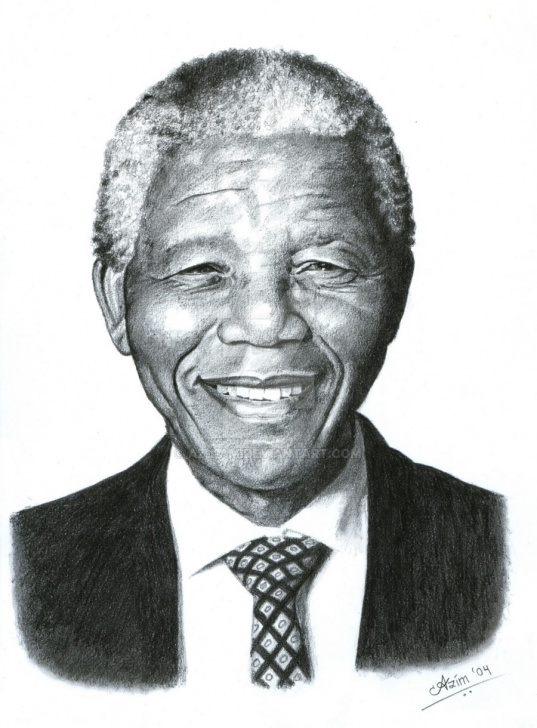 Pencil Sketch Of Nelson Mandela