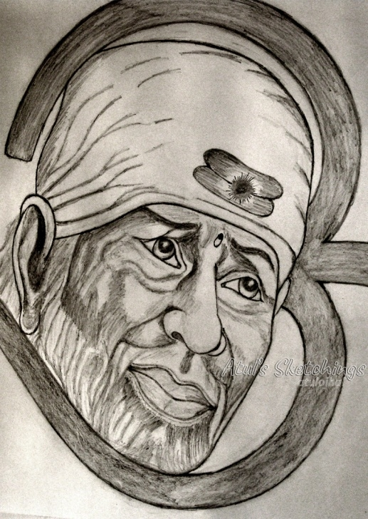 The Most Famous Pencil Sketch Of Sai Baba Tutorials Sai Baba Pics