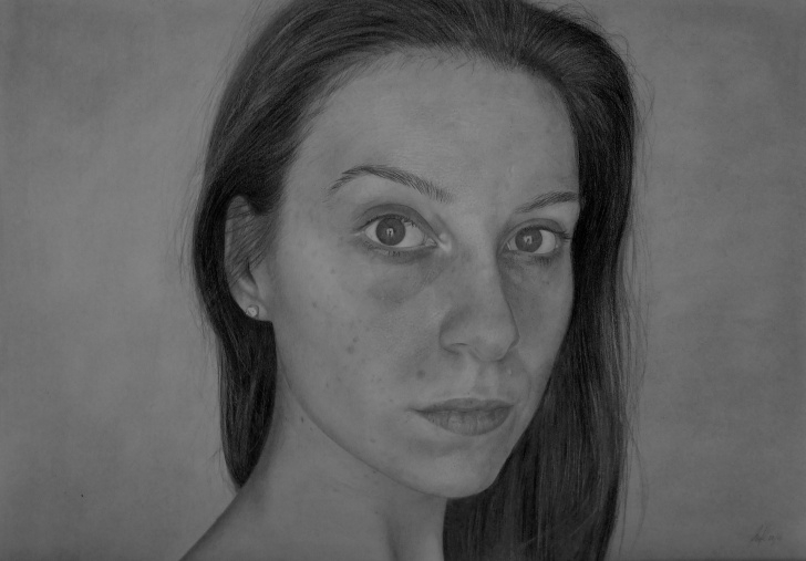 """The Most Famous Photorealistic Pencil Drawings Techniques Photorealistic Pencil Drawing """"#20Hourselfie"""" - Album On Imgur Pic"""