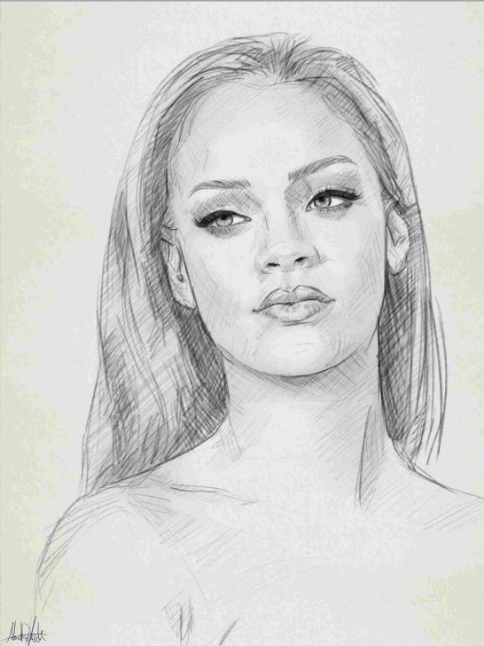 The Most Famous Portrait Drawing For Beginners Simple Portrait Drawing Easy At Paintingvalley | Explore Collection Of Pictures