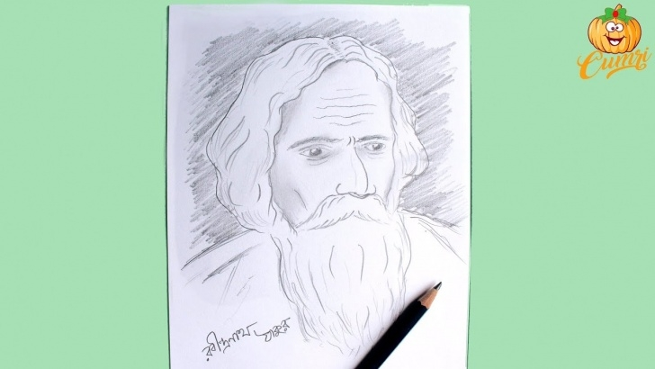 The Most Famous Rabindranath Tagore Pencil Sketch Ideas How To Draw Rabindranath Tagore Step By Step | Pencil Sketch Of  Rabindranath Tagore Pics
