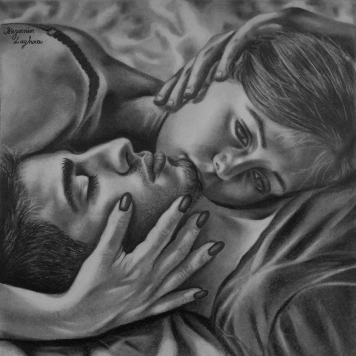 The Most Famous Romantic Pencil Drawings Courses Pencil Drawing – No. 7 – Nazanin Laghaee Photo