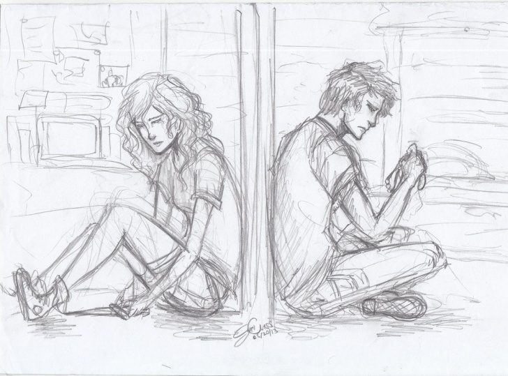 The Most Famous Sad Love Sketch Step by Step 1038X769 Sad Love Sketch Image Sad Images In Love Sketches Sad Anime Pic
