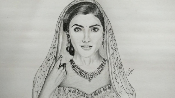 The Most Famous Samantha Pencil Sketch Tutorials Pencil Drawing - Samantha Ruth - Fan Art Drawing Picture