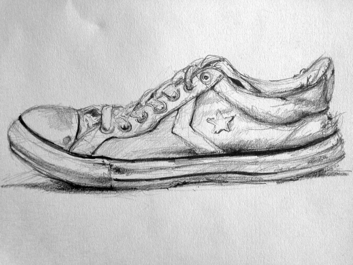 The Most Famous Shoe Pencil Drawing Free Shoes 13 Drawing By Vella | Artmajeur Pic