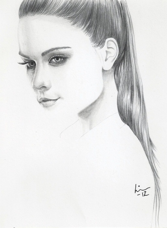 The Most Famous Simple Portrait Drawing Ideas 12 Simple Portrait Sketches - Portrait - Drawing Sketch Painting Image