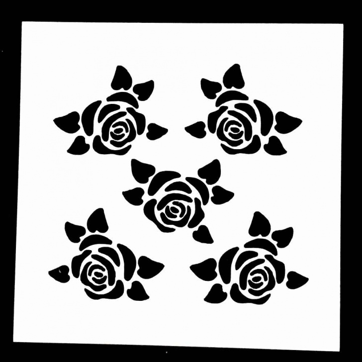 The Most Famous Stencil Art Rose for Beginners 1Pc Small Rose Flower Shaped Reusable Stencil Airbrush Painting Art Diy  Home Decor Scrap Booking Album Crafts Pics