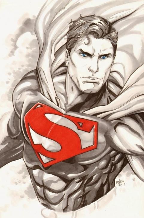 The Most Famous Superman Pencil Sketch Techniques Superman Drawing, Pencil, Sketch, Colorful, Realistic Art Images Pic