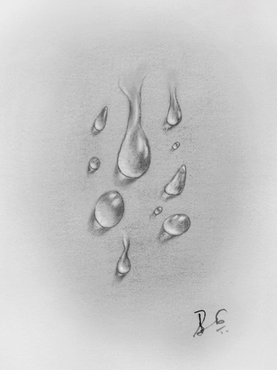 The Most Famous Water Pencil Sketch Tutorial My Pencil Drawing- Water Drops (Original) — Steemit Pic