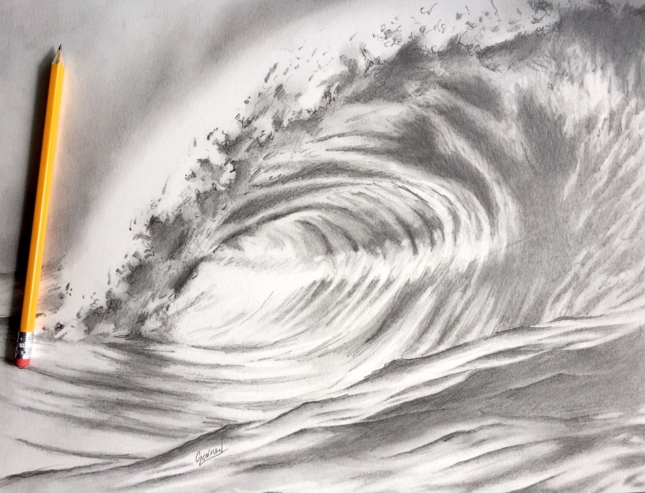 The Most Famous Wave Pencil Drawing Tutorials Pin By Greg Lowman Art On Greg Lowman Art In 2019 | Drawings, Wave Pics