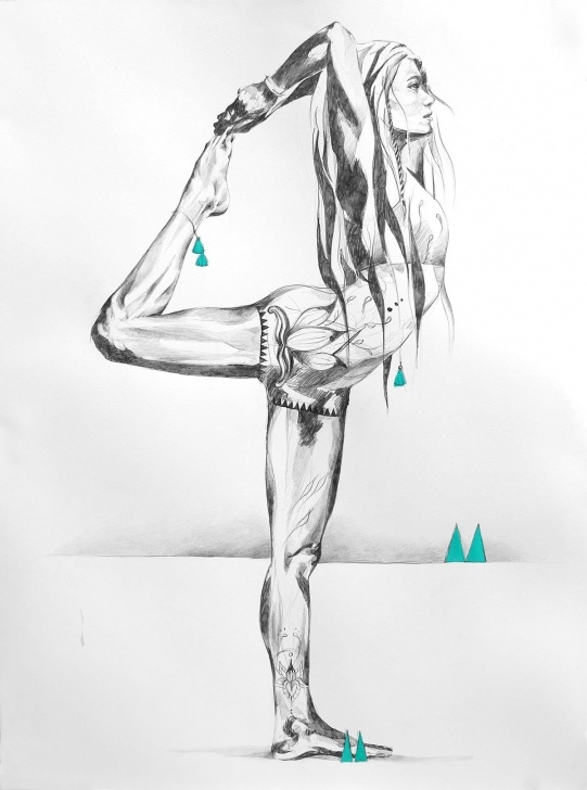 The Most Famous Yoga Pencil Drawing Techniques for Beginners Days Of Heaven | Ilustraciones Bonitas <3 | Yoga Drawing, Yoga Pics