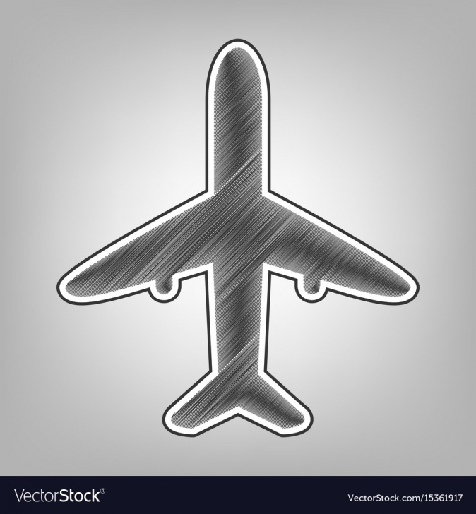 Top Airplane Pencil Drawing Free Airplane Sign Pencil Sketch Photo
