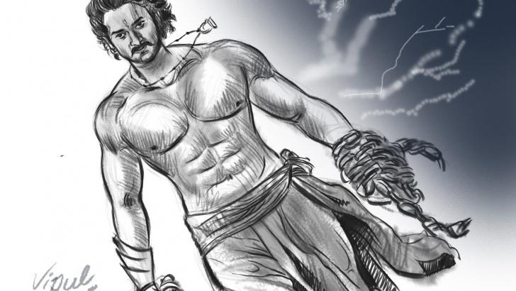Top Bahubali 2 Pencil Sketch Free Baahubali 2 Drawing | Fan Art | Digital Art | Prabhas | Tamannah | S S  Rajamouli | Rana Daggubati Photos