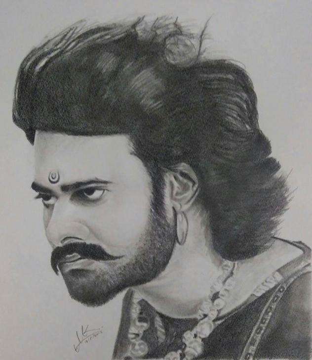 Top Bahubali 2 Pencil Sketch Simple Bahubali !! Rate My Pencil Sketch @portraitflip - Album On Imgur Photo