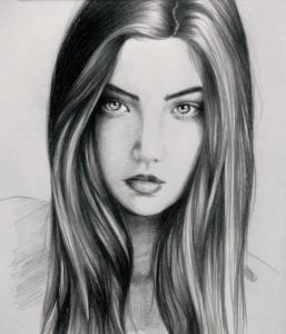 Top Beautiful Sketches Of Girl Techniques Portrait Sketch Of A Beautiful Girl #art #sketch #drawing #beautiful Picture