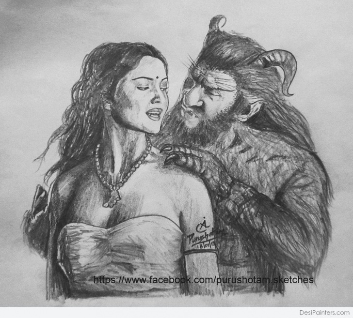 Top Beauty And The Beast Pencil Drawing Tutorial Beauty And Beast Pencil Sketch | Desipainters Photos