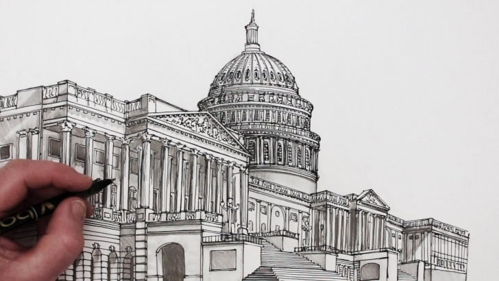 Top Building Pencil Sketch for Beginners How To Draw Buildings: The United States Capitol Building Picture