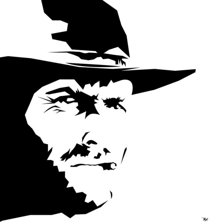 Top Clint Eastwood Stencil Art for Beginners Clint Eastwood | Mr. Eastwood | Clint Eastwood, Art, Stencil Art Photo