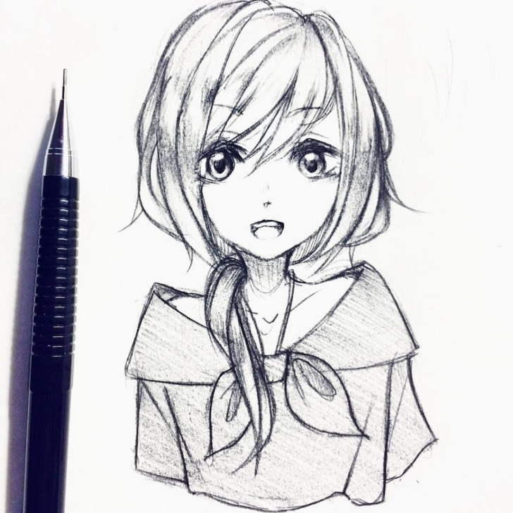 Top Cute Anime Drawings In Pencil for Beginners Anime Pencil Drawings At Paintingvalley | Explore Collection Of Photos
