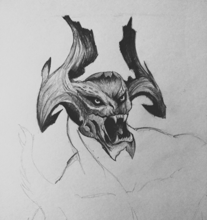 Top Dark Pencil Sketches Techniques Dark Pencil Sketch-Monster — Steemit Image
